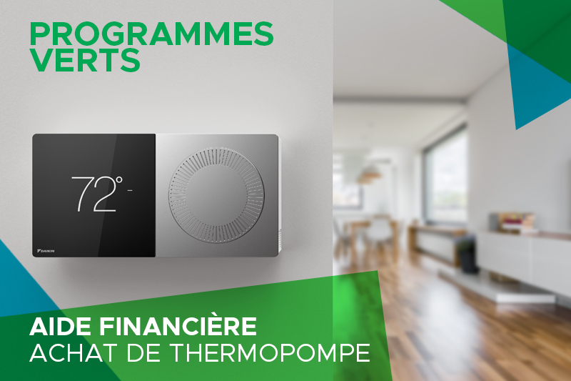 Programmes verts thermopompe